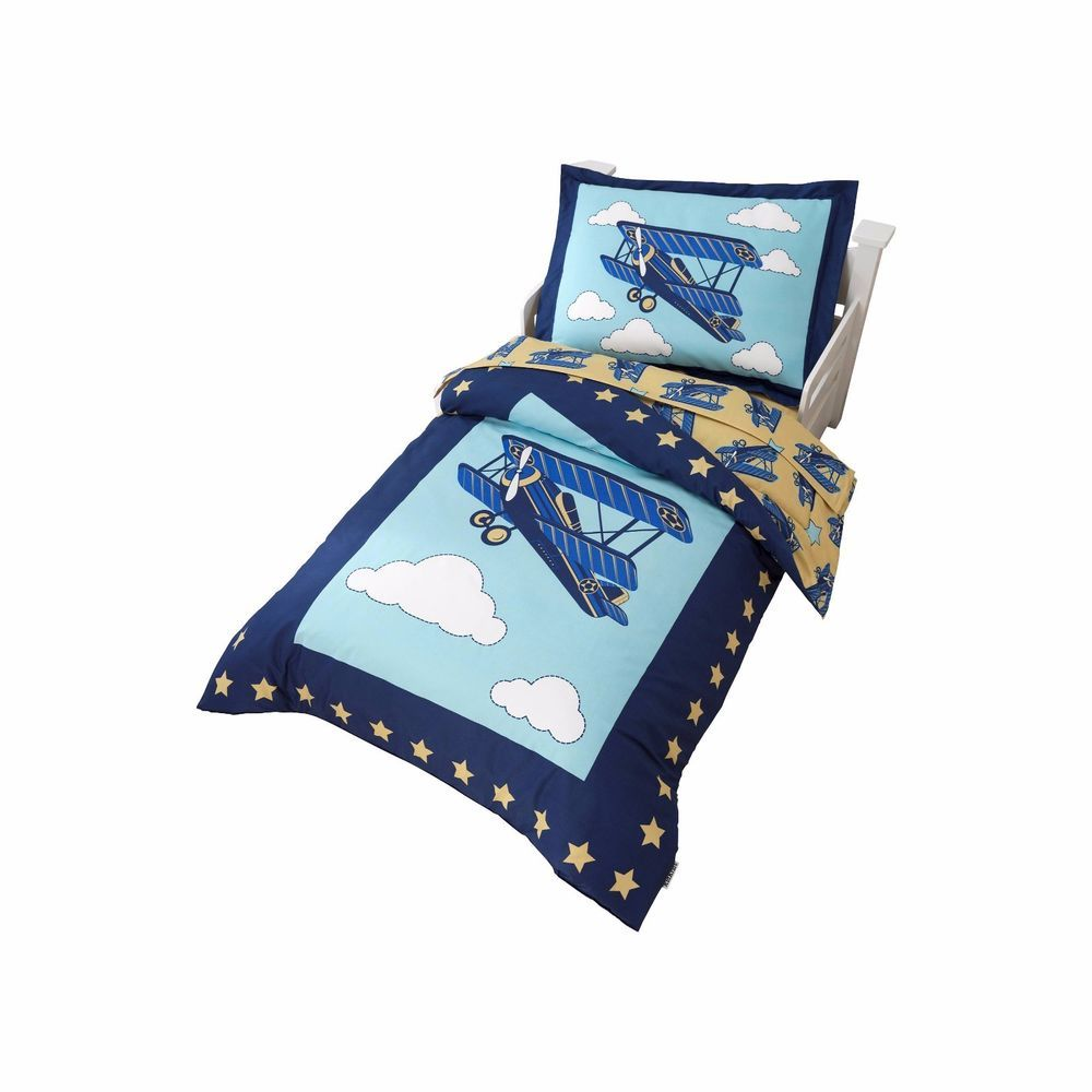 Airplane Themed Toddler Bedding