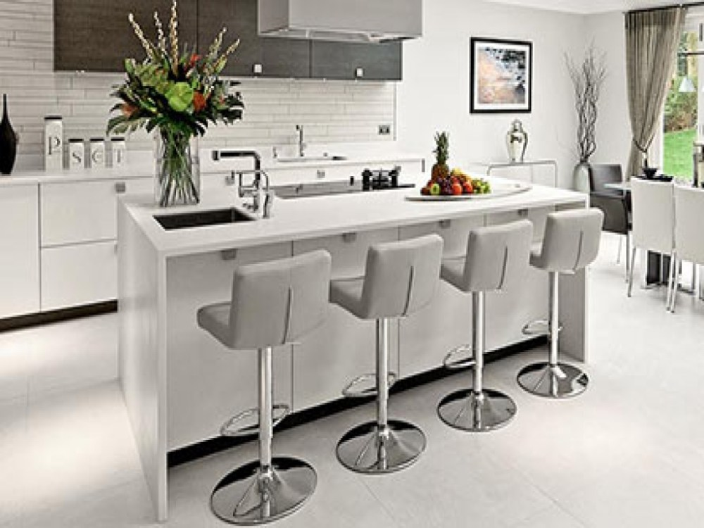 Breakfast Bar Stools Grey