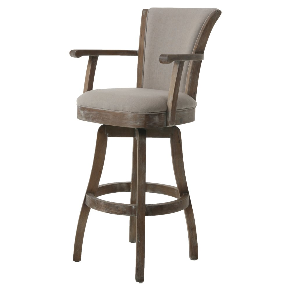 Grey Bar Stools With Arms
